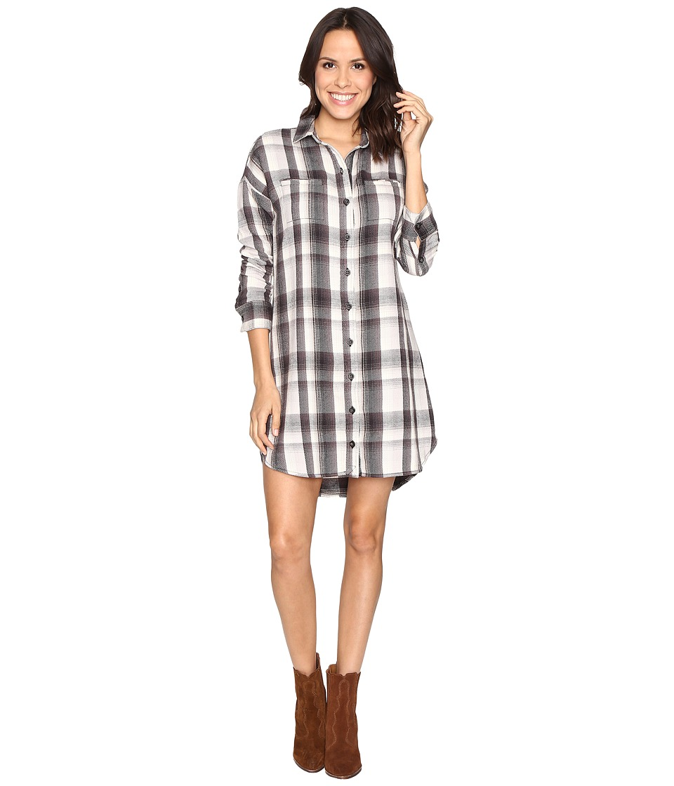 Alternative - Yarn-Dye Flannel Timberwood Shirtdress (Grey Plaid) Women's Dress