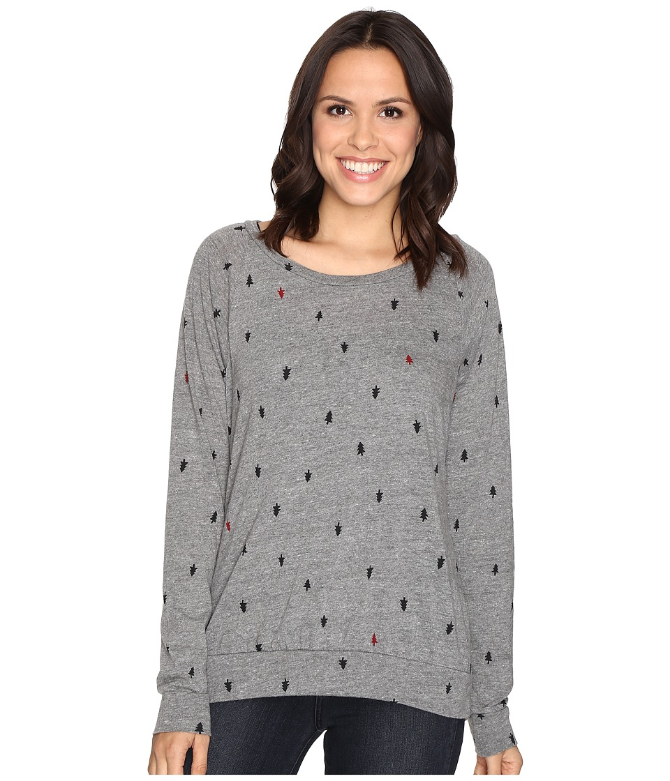 Alternative Printed Slouchy Pullover (Eco Grey Tree Dot) Women