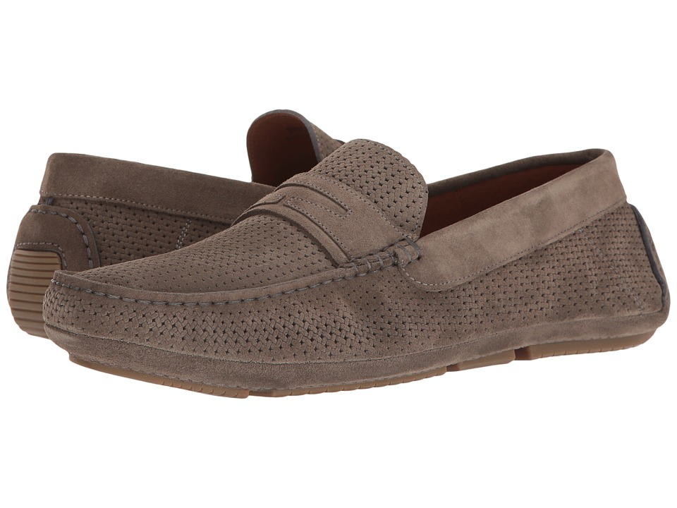 Aquatalia - Bruce (Grey Embossed Suede) Men's Slip on Shoes