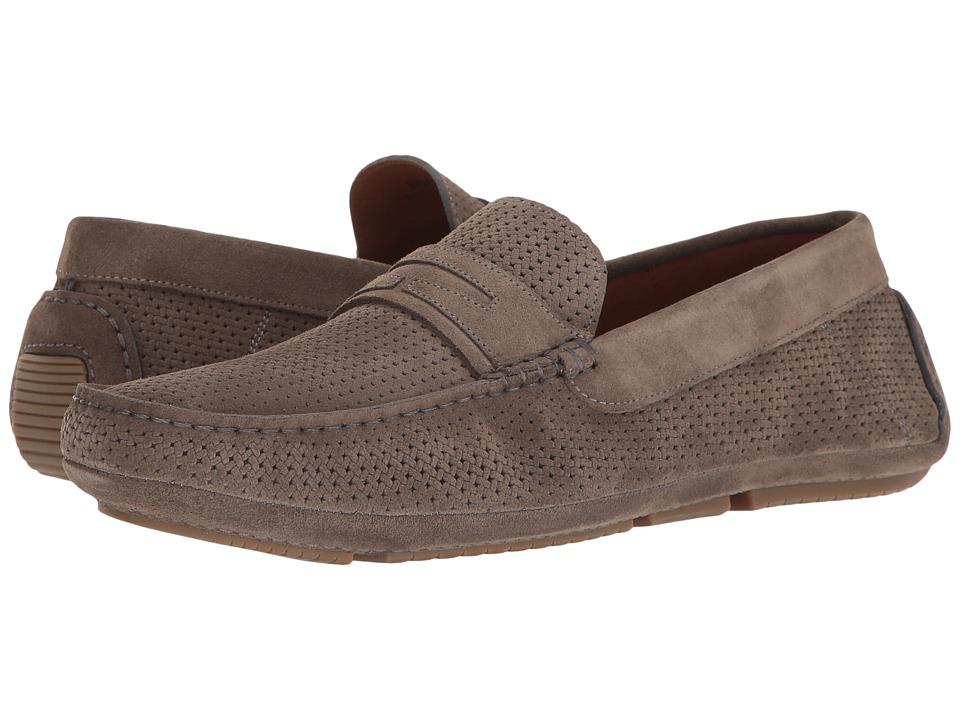 Aquatalia - Bruce (Grey Embossed Suede) Men's Slip on Shoes