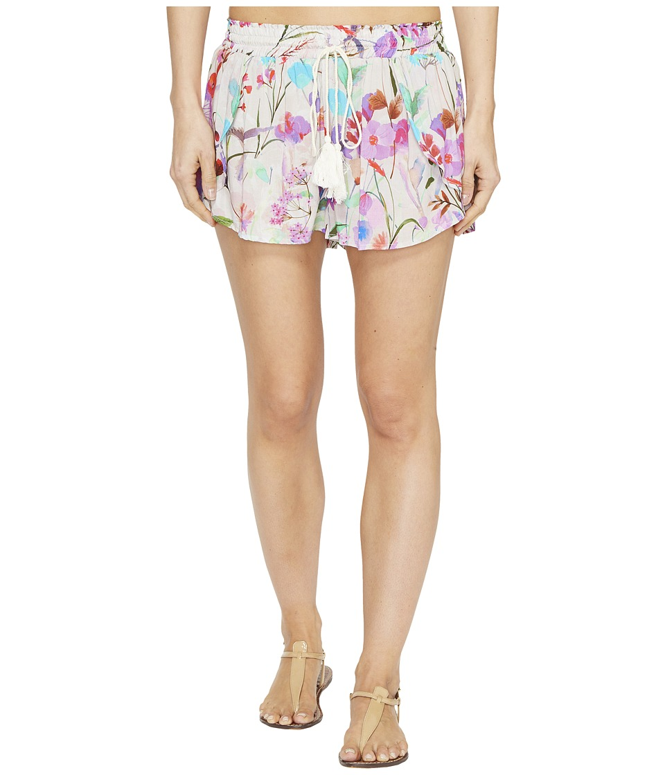 Vitamin A Swimwear Marabella Petal Shorts Cover-Up (Sugar Beach Print Beachwear) Women
