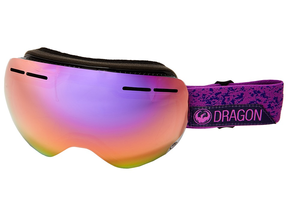 Dragon Alliance - X1S (Stone Violet/Purple Ion/Yellow Red Ion) Snow Goggles