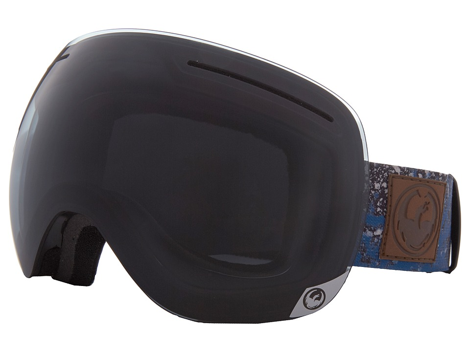 Dragon Alliance - X1 (Patina Blue/Dark Smoke/Yellow Red Ion) Snow Goggles