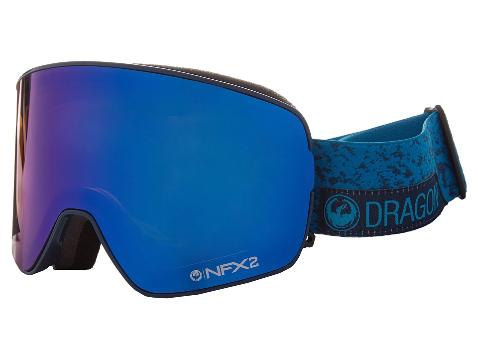 Dragon Alliance - NFX2 (Stone Blue/Blue Steel/Yellow Red Ion) Snow Goggles