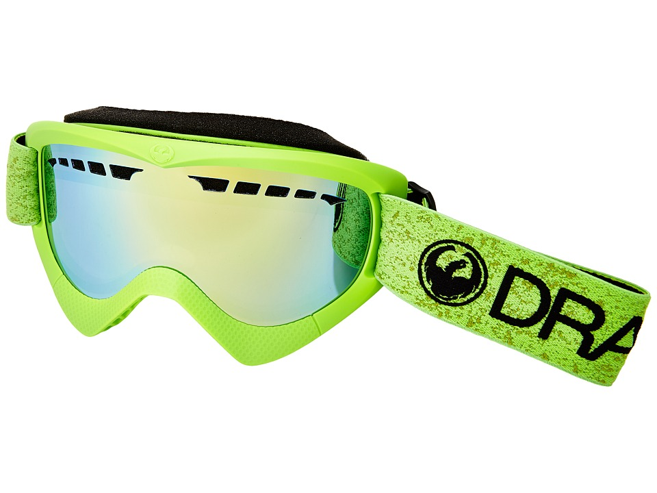 Dragon Alliance - DXS (Green/Smoke Gold Ion) Snow Goggles
