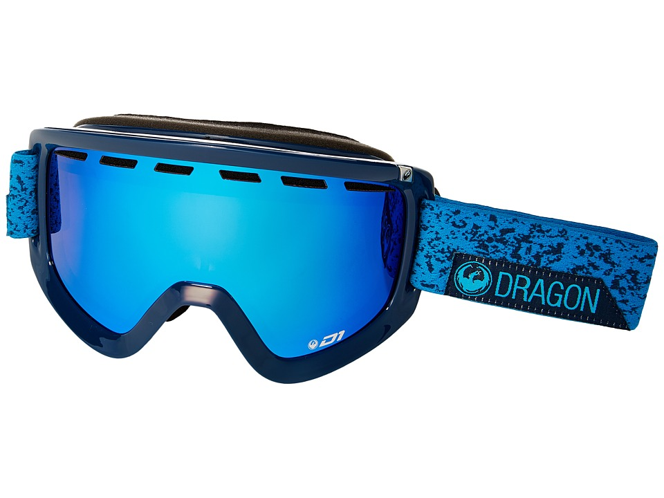 Dragon Alliance - D1 (Stone Blue/Blue Steel/Yellow Red Ion) Goggles