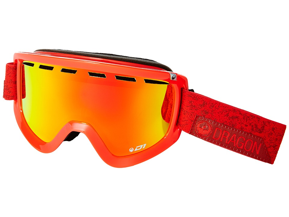 Dragon Alliance - D1 (Stone Red/Red Ion/Yellow Red Ion) Goggles