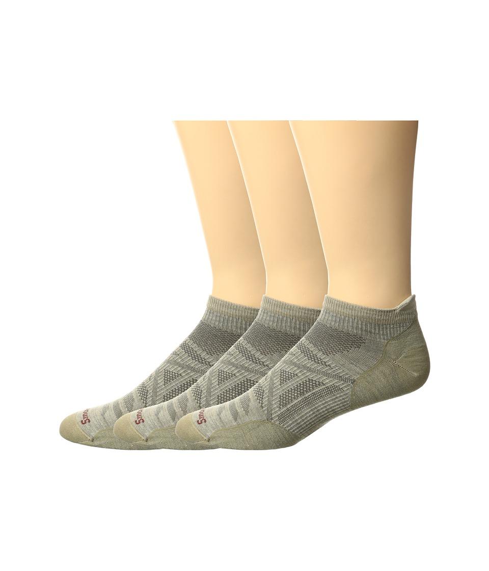 Smartwool - PhD Outdoor Ultra Light Micro 3-Pack (Oatmeal) Men's Crew Cut Socks Shoes