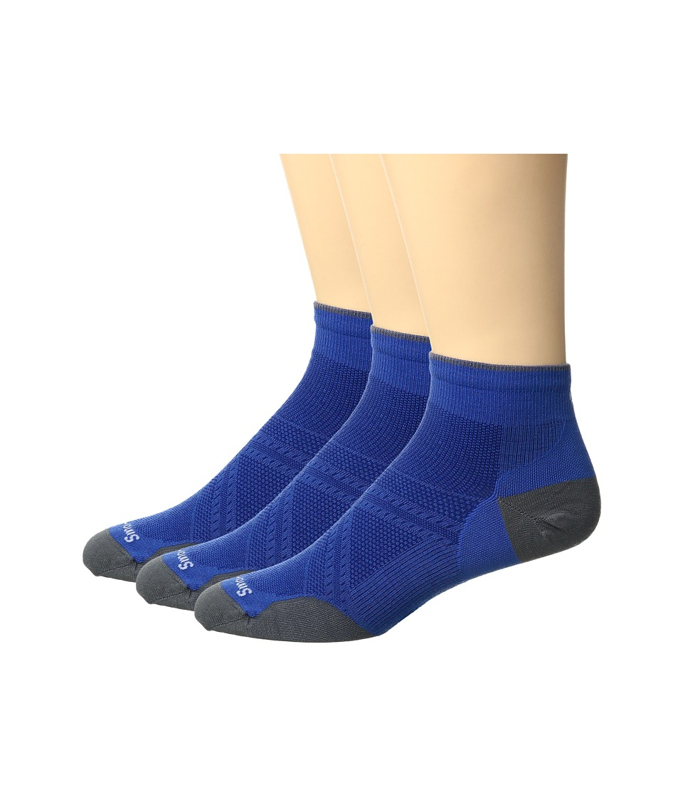 Smartwool - PhD Run UL LC 3-Pack (Bright Blue) Men's Crew Cut Socks Shoes
