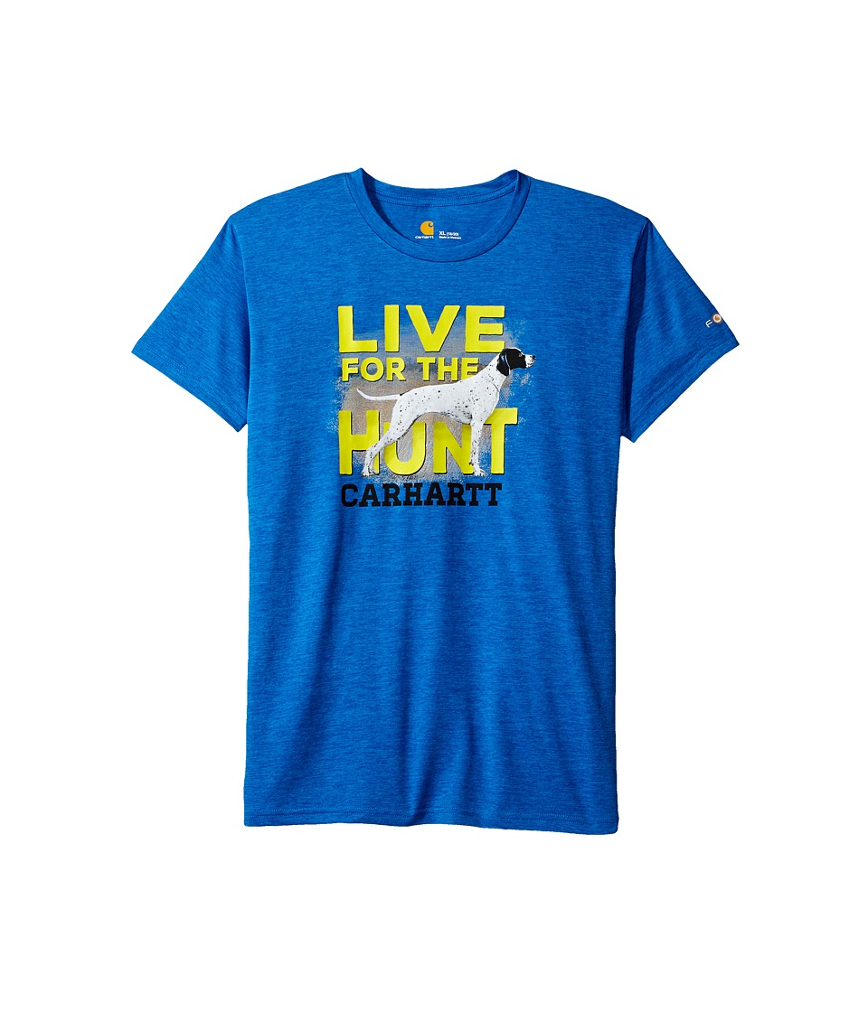 Carhartt Kids - Live For The Hunt Force Tee (Big Kids) (Victoria Blue Heather) Boy's T Shirt