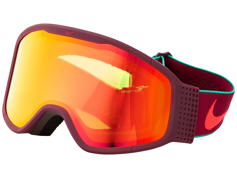 Dragon Alliance - Mazot X Nike (Night Maroon Crimson/Yellow Red Ion) Snow Goggles