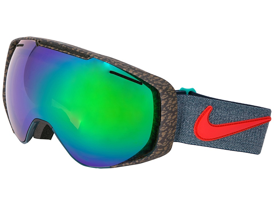 Dragon Alliance - Khyber X Nike (Midnight/Green Ion/Yellow Red Ion) Goggles