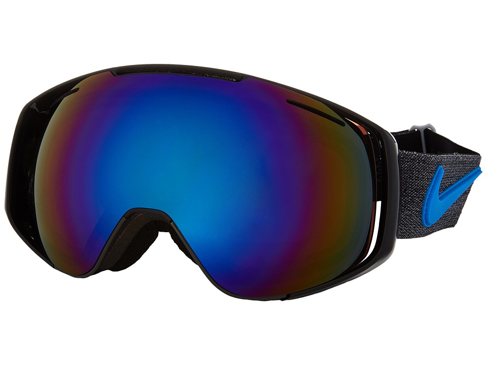 Dragon Alliance - Khyber X Nike (Anthracite/Blue Polar/Yellow Blue Ion) Goggles