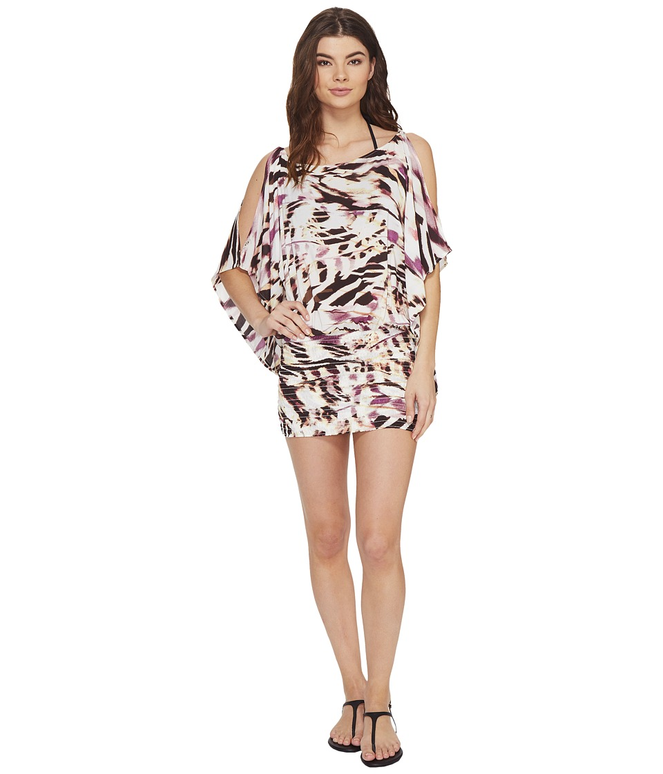 Vitamin A Swimwear Costa Brava Tunic Cover-Up (La Plume Print Beachwear) Women