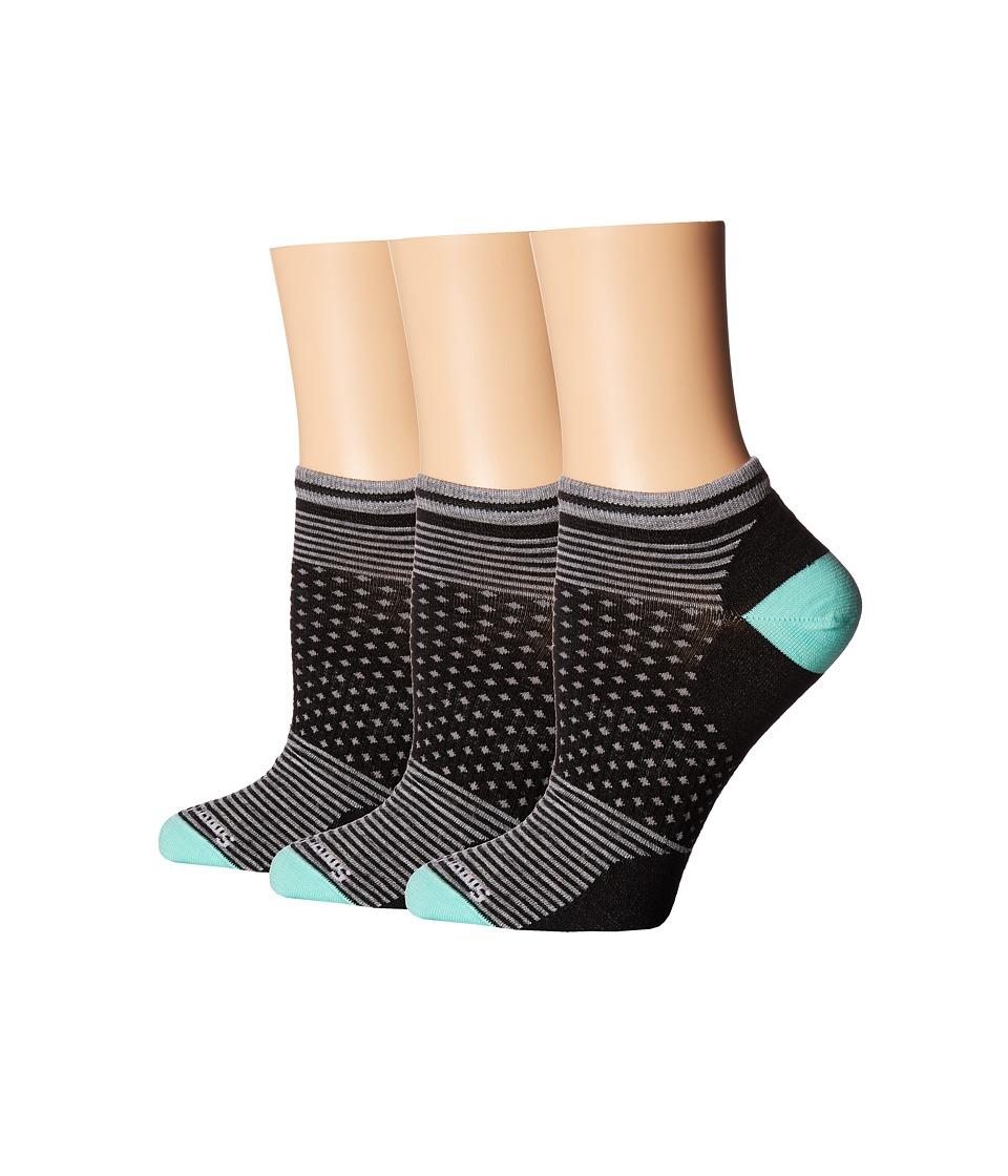 Smartwool - Forfeit Micro 3-Pack (Black) Women's Crew Cut Socks Shoes