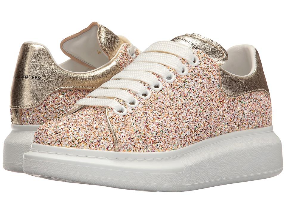 Alexander McQueen Lace-Up Sneaker (Glitter) Women