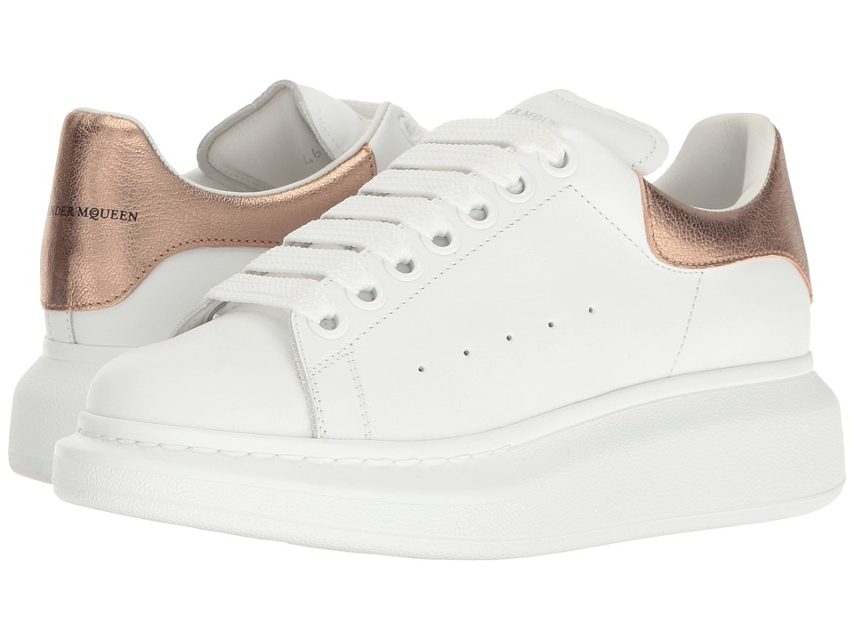 Alexander McQueen - Lace-Up Sneaker (Rose Gold) Women's Lace up casual Shoes