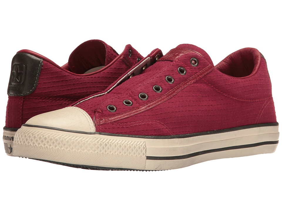 Converse by John Varvatos Chuck Taylor(r) All Star(r) Vintage Crinkle Seersucker (Oxblood/Beluga) Shoes