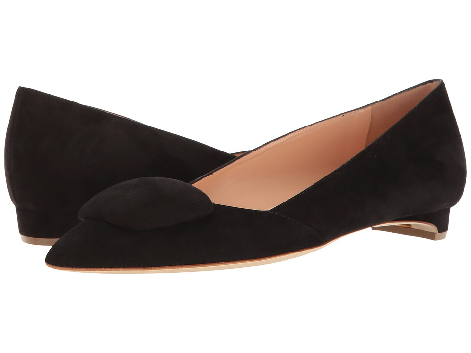 Rupert Sanderson - Aga (Black Suede) Women's Slip on Shoes