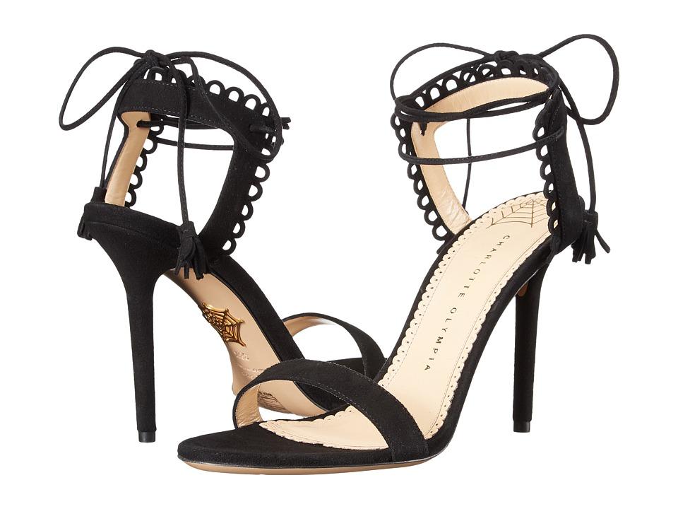 Charlotte Olympia Salsa 95 (Black Suede) High Heels