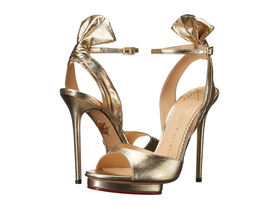 Charlotte Olympia - Wallace (Gold Lame) High Heels
