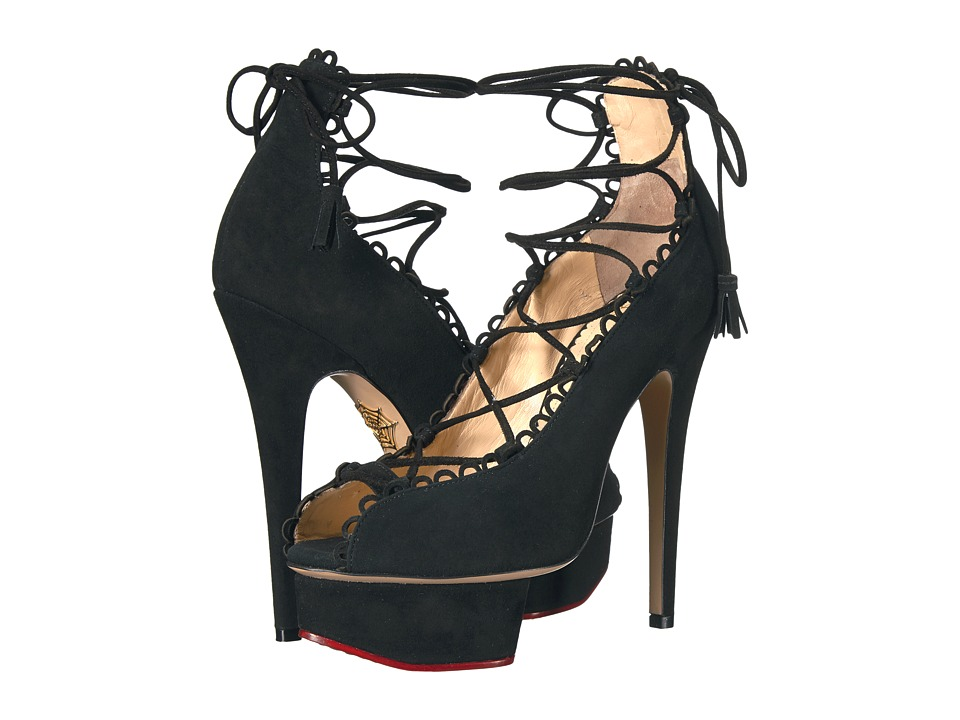Charlotte Olympia - Gladys (Black Suede) High Heels