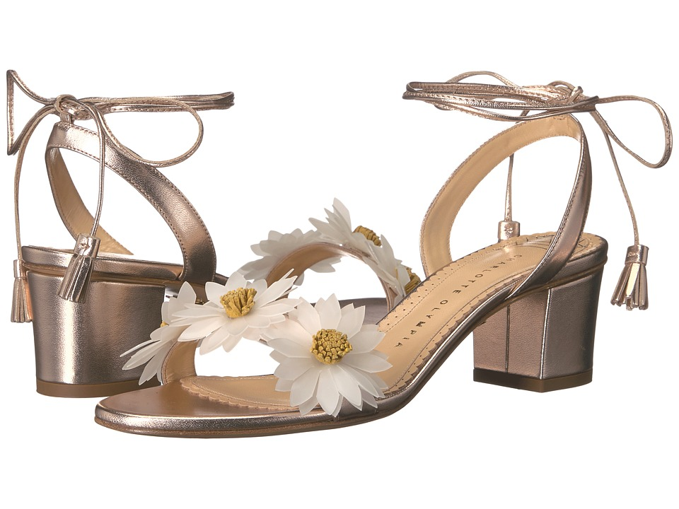 Charlotte Olympia - Tara (Rose Gold Metallic Nappa) Women's 1-2 inch heel Shoes