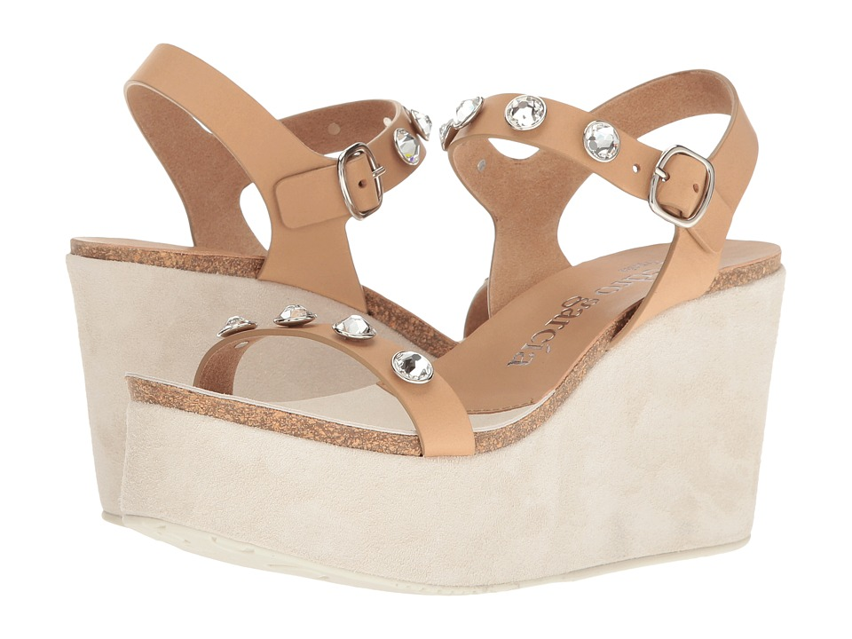 Pedro Garcia - Diem (Almond Vacchetta) Women's Wedge Shoes