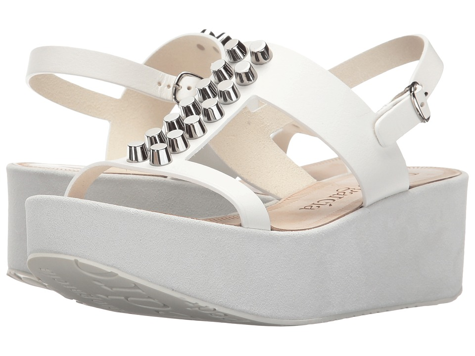 Pedro Garcia - Noella (White Vacchetta) Women's Wedge Shoes
