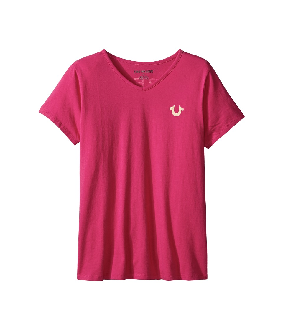 True Religion Kids - Branded Logo T-Shirt (Little Kids/Big Kids) (Fuchsia) Girl's T Shirt