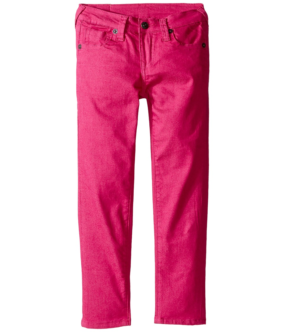 True Religion Kids - Casey Overdye Single End Jeans in Fuchsia (Toddler/Little Kids) (Fuchsia) Girl's Jeans