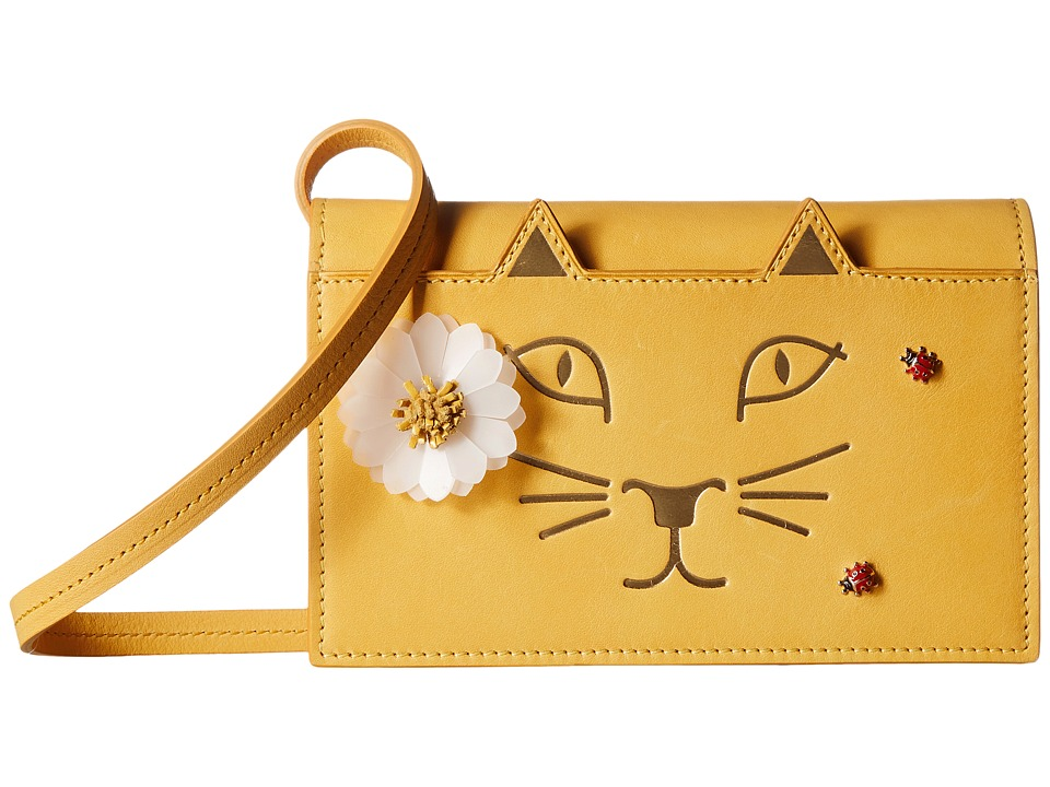Charlotte Olympia - Feline Purse (Sunshine Yellow Calfskin) Wallet Handbags