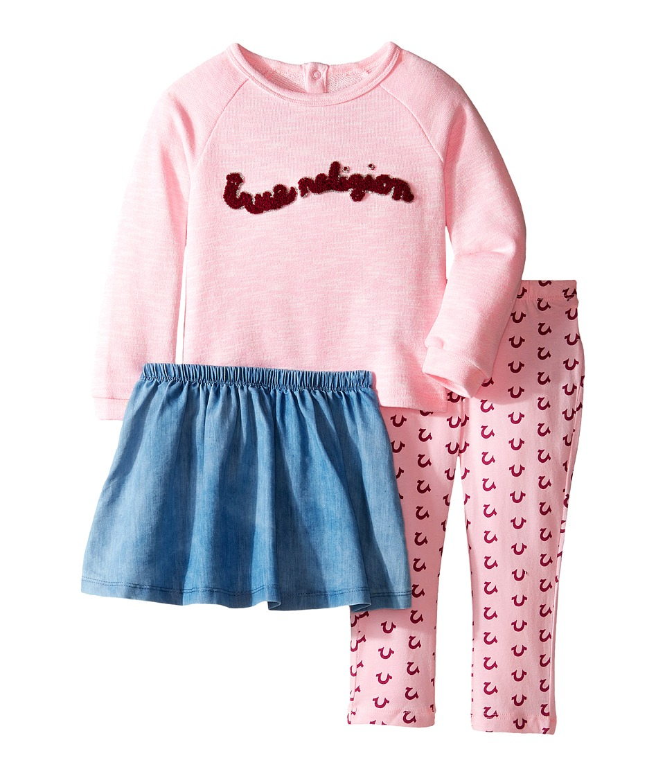 True Religion Kids - Three-Piece Sweater Set (Infant/Toddler) (After Glow) Girl's Active Sets
