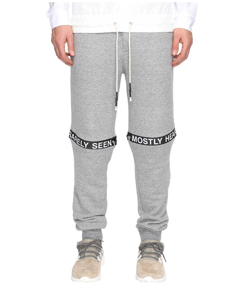 Mostly Heard Rarely Seen - Ticker Feed Jogger (Heather Grey) Men's Casual Pants
