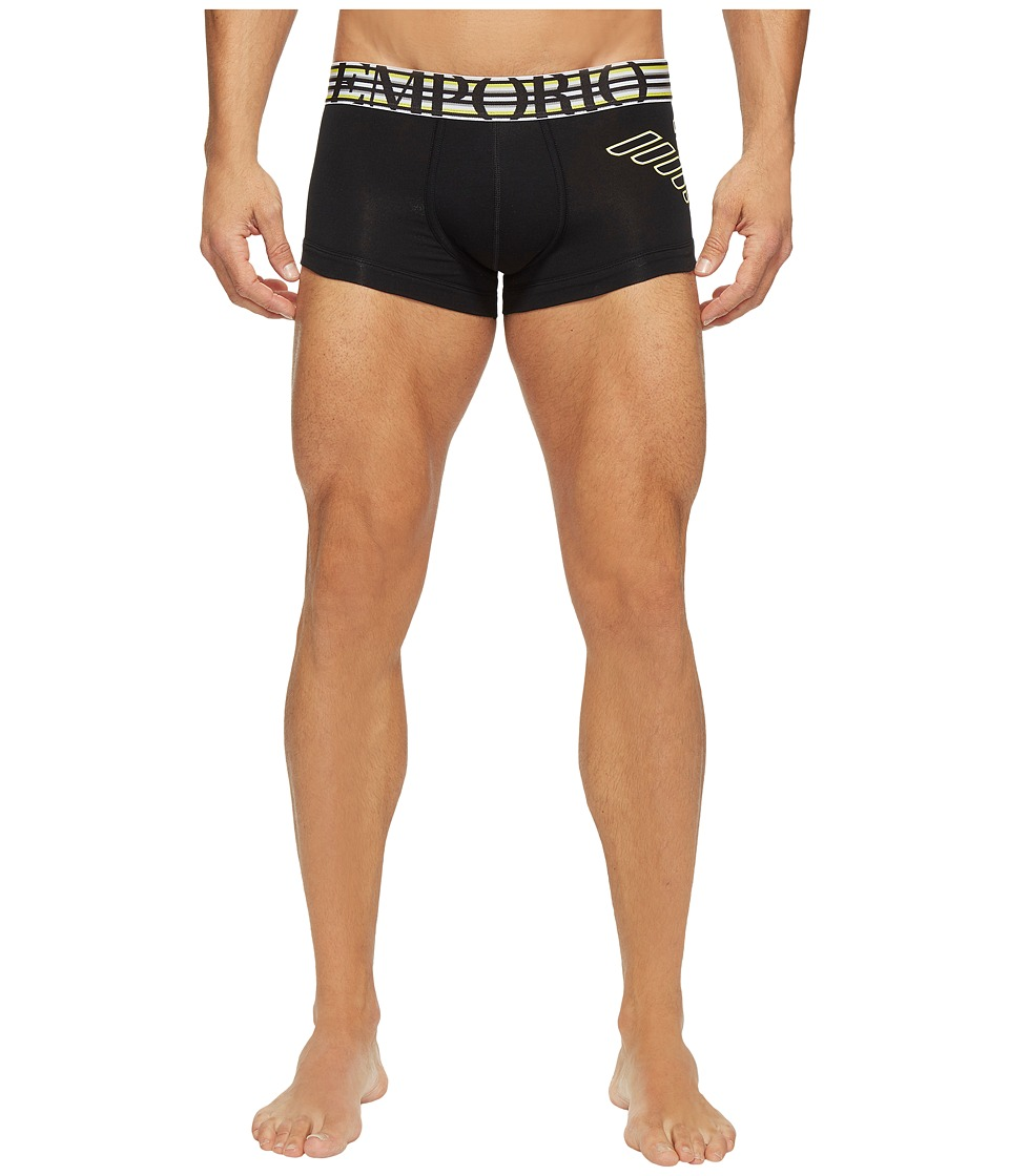 Emporio Armani - Athletic Big Eagle Stretch Cotton Trunk (Black) Men's Underwear