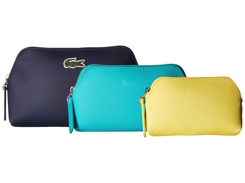 Lacoste - L.12.12 Concept 3 Size Make Up Pouches (Eclipse Combo 1) Cosmetic Case