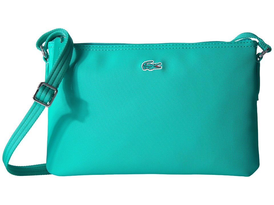 Lacoste - L.12.12 Concept Flat Crossover Bag (Ceramic) Cross Body Handbags
