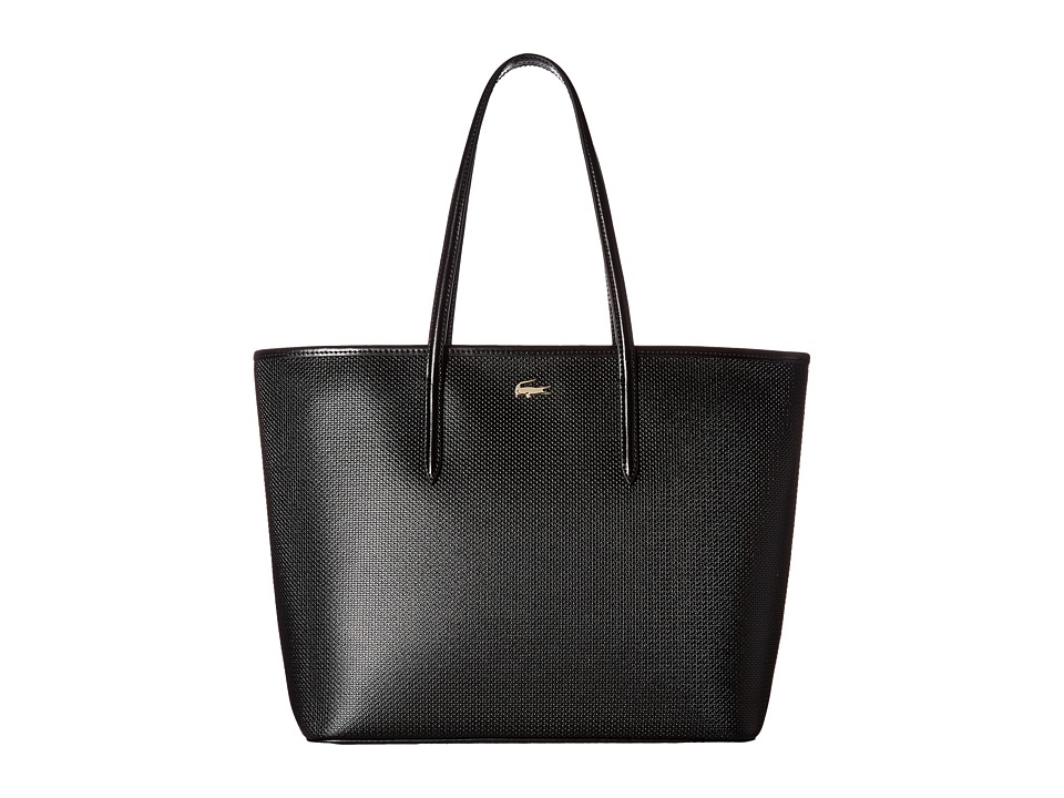 Lacoste - Chantaco Zip Shopping Bag (Black) Handbags