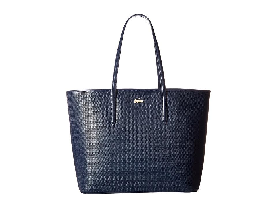 Lacoste - Chantaco Zip Shopping Bag (Peacoat) Handbags