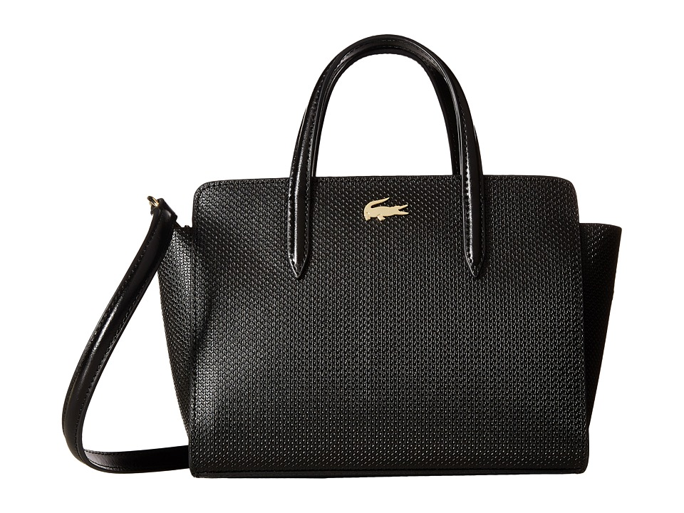 Lacoste - Chantaco Extra Small Shopping Bag (Black) Handbags