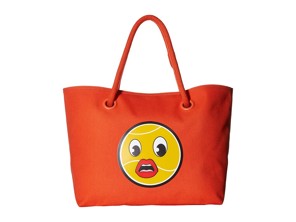 Lacoste - Summer Cross Yazbukey Large Shopping Bag (Red/Orange Lip) Handbags