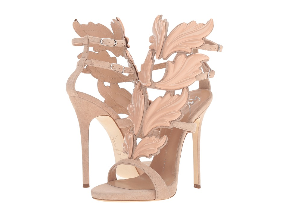 Giuseppe Zanotti - Suede Winged Sandal (Cam Fondontina) Women's Shoes