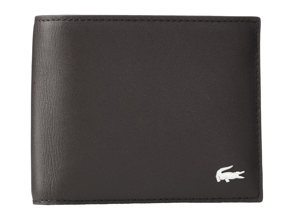 Lacoste - FG Small Billfold Credit Card Holder (Dark Brown) Bill-fold Wallet