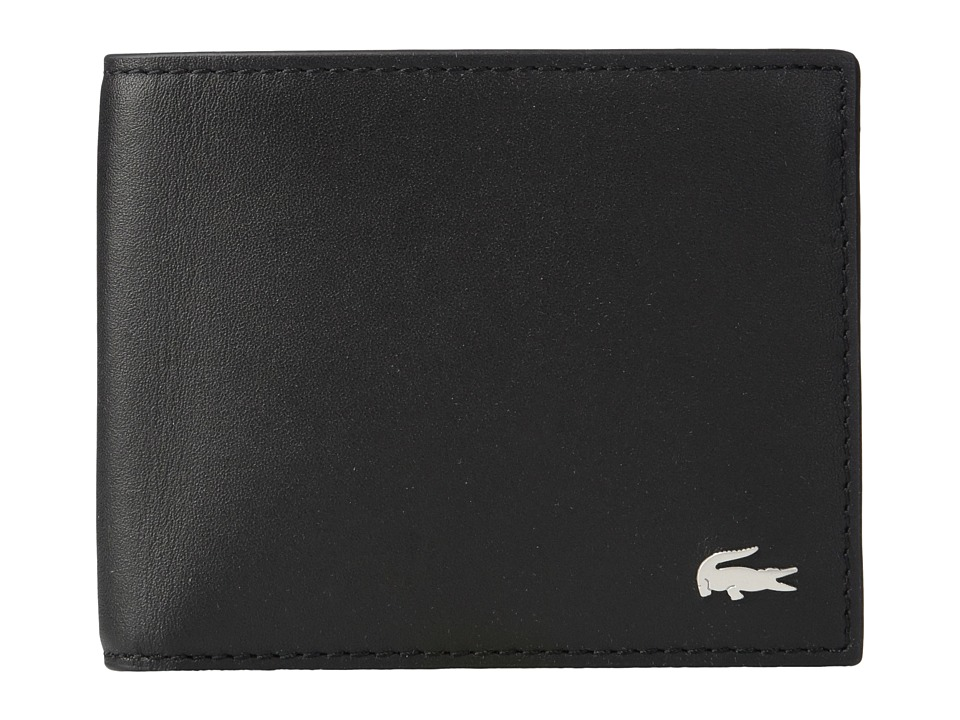 Lacoste - FG Small Billfold Credit Card Holder (Black) Bill-fold Wallet