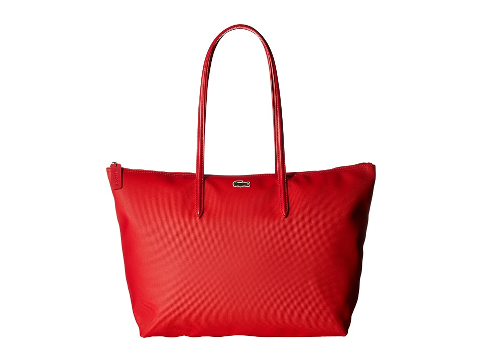 Lacoste - L.12.12 Concept Large Shopping Bag (High Risk Red) Tote Handbags