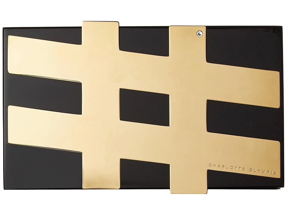Charlotte Olympia - #Pandora (Black/Transparent Perspex) Handbags