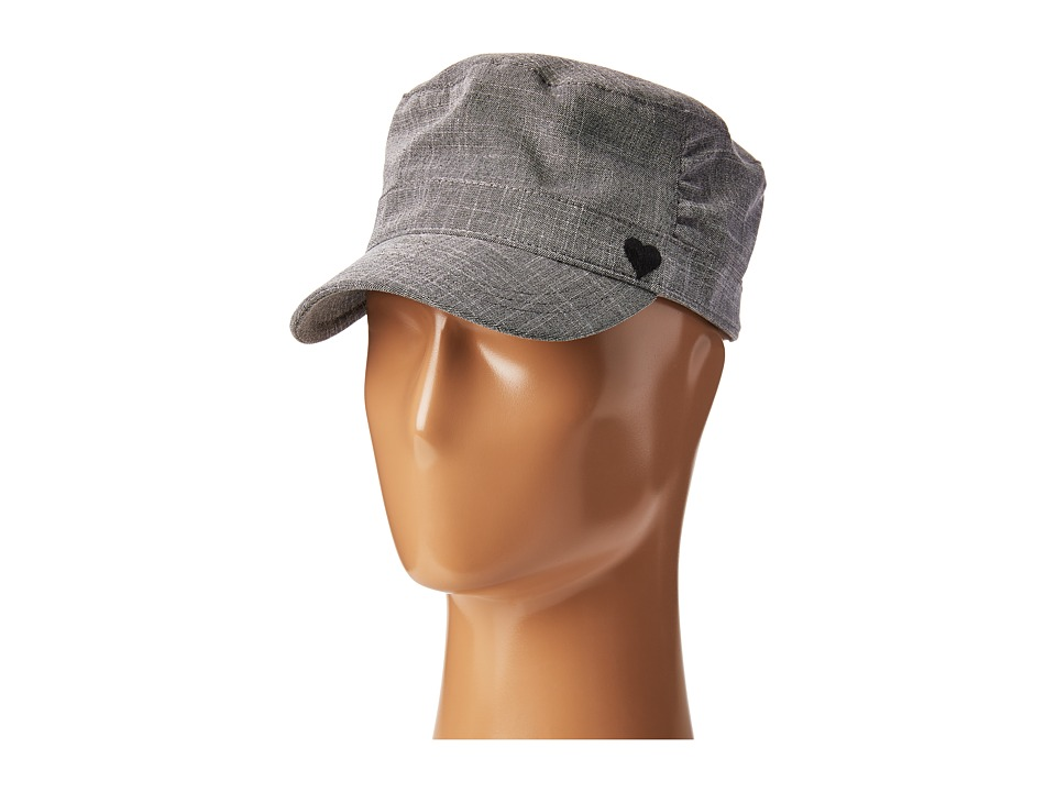 Life is Good - Heart Pleated Cadet (Heather Gray) Traditional Hats