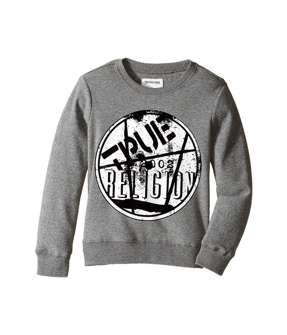 True Religion Kids - Vinyl Pullover (Toddler/Little Kids) (Heather Grey) Boy's Clothing
