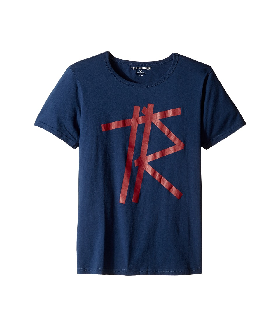 True Religion Kids Tape T-Shirt (Big Kids) (Insignia Blue) Boy