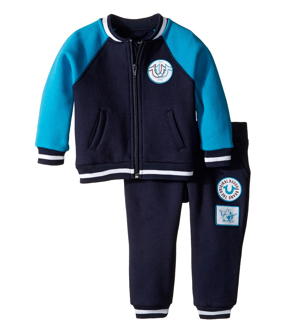 True Religion Kids - Varsity Jacket Set (Infant) (Midnight) Boy's Active Sets